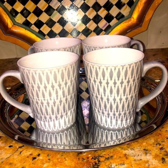 4 Mikasa Gray Aurora Coffee Mugs